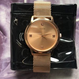 Guess Wrist Watch (with real diamond)